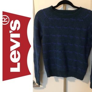 Levi's wool blended crew neck sweater